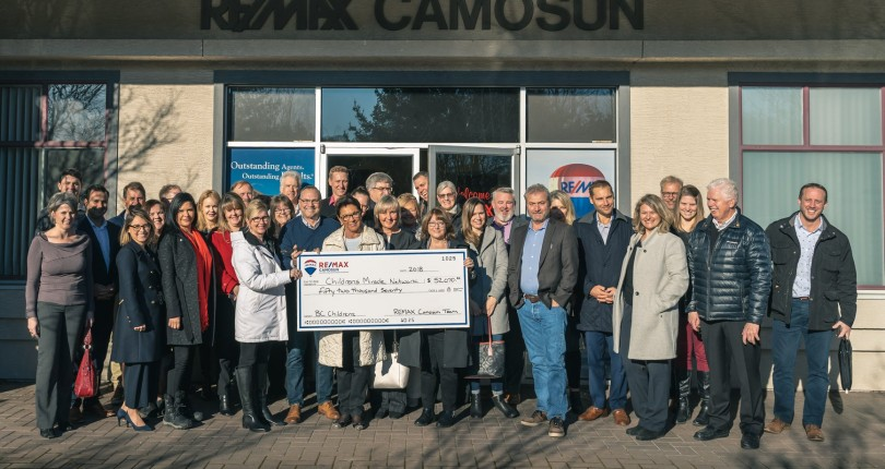 RE/MAX Camosun Donates Over $52,000 to Children's Miracle Network Hospital in 2018