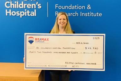 RE/MAX Camosun Donation, BC Children's Hospital