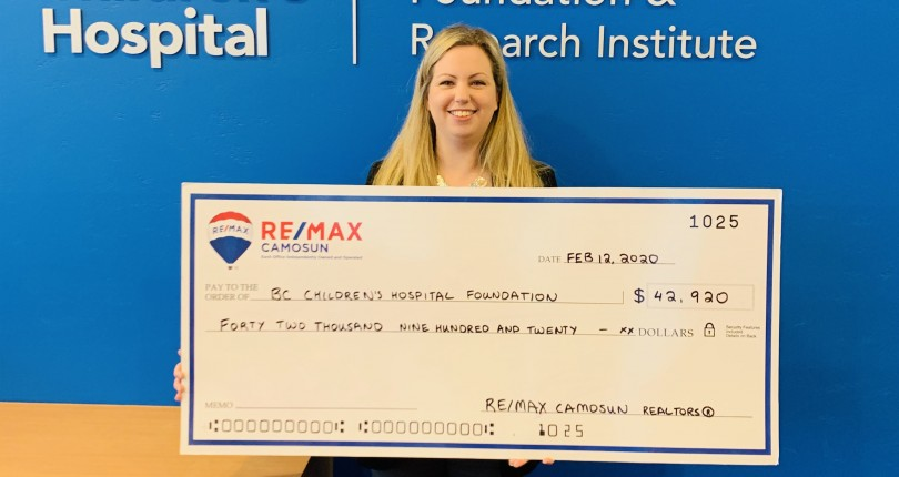 RE/MAX Camosun Donates $42,920 to BC Children's Hospital