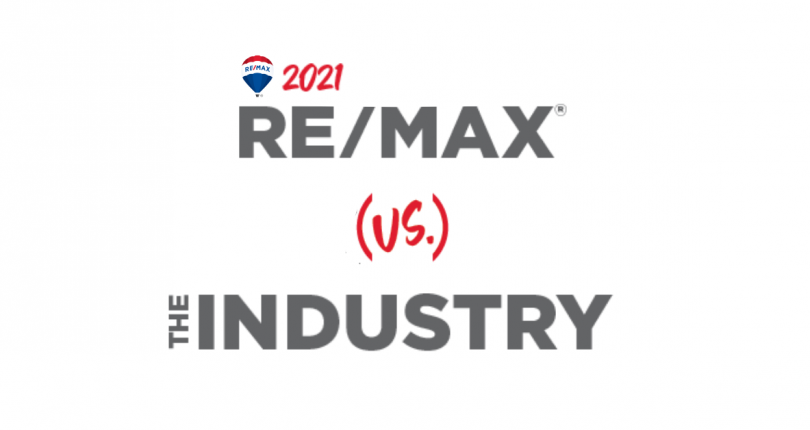 RE/MAX Compared to the Real Estate Industry in 2021